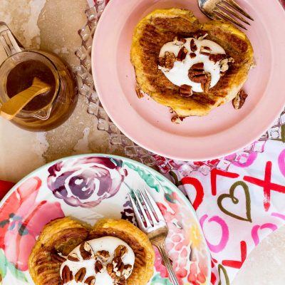 Apple Butterscotch Stuffed French Toast