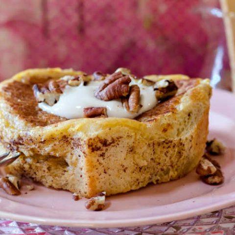 Apple Butterscotch Stuffed French Toast