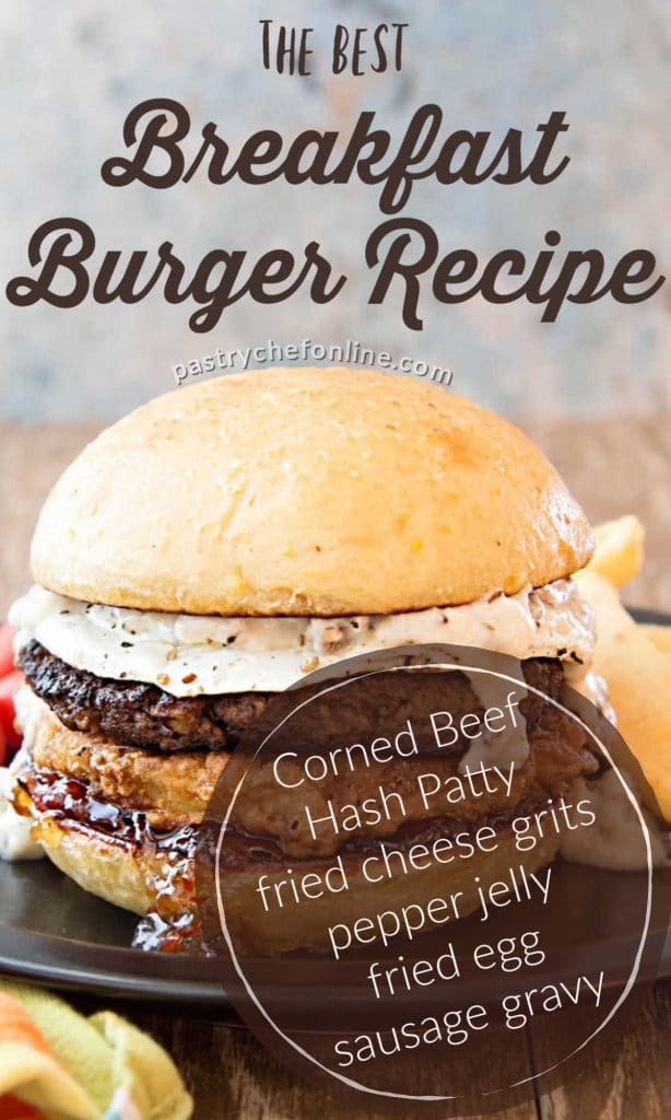 pin image for breakfast burger