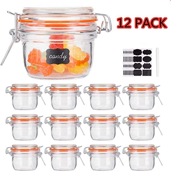 Set of 12 5oz Glass Jars