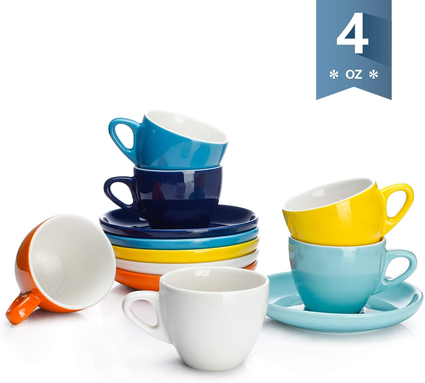 4 oz Demitasse Cups and Saucers