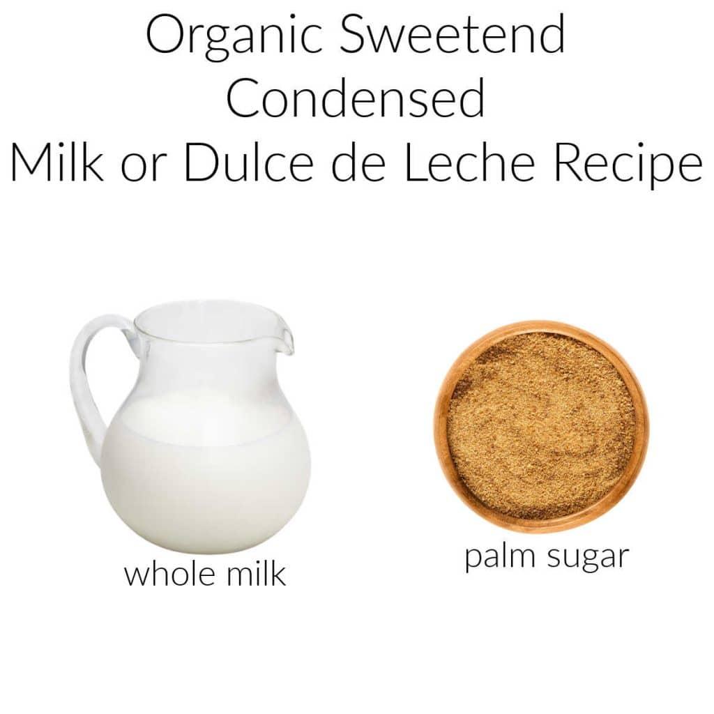 ingredients needed to make sweetened condensed milk