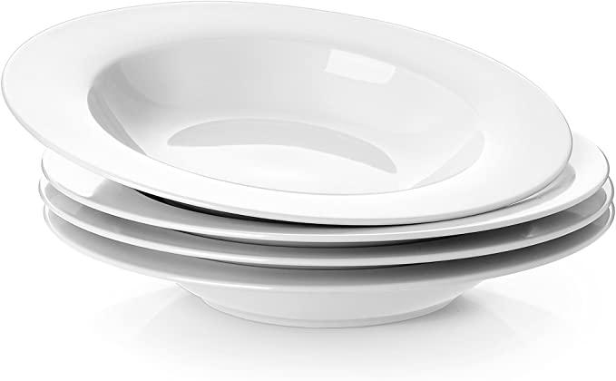 Rimmed White Bowls