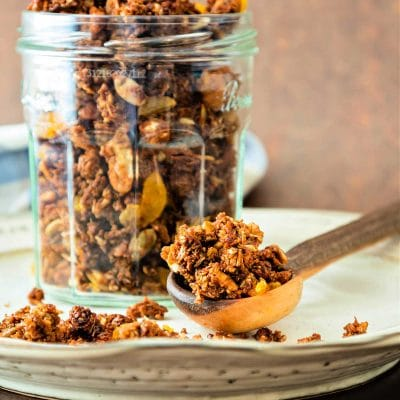 Crunchy Spent Grain Granola with Dried Apricots